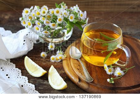 Summer Tea Party: Herbal tea with mint and camomile