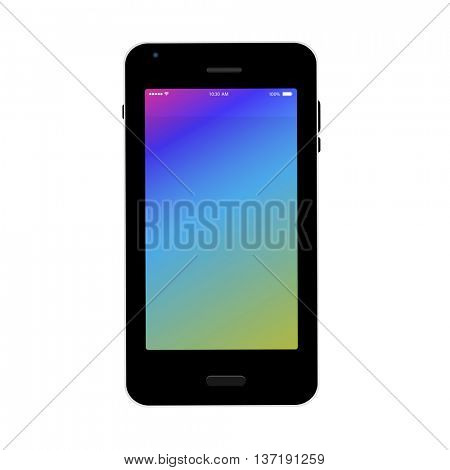 Smartphone, mobile phone illustration easy all editable