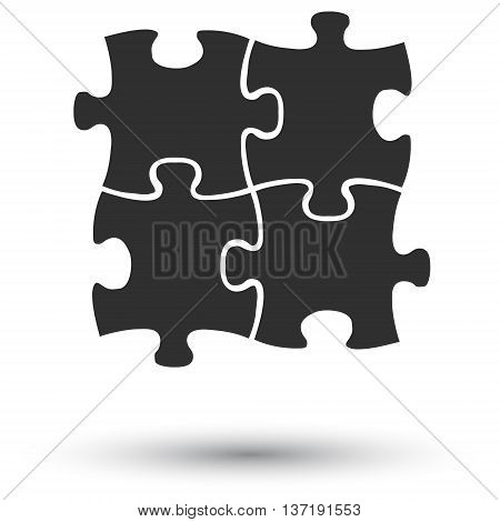 This is vector gray flat icon puzzle