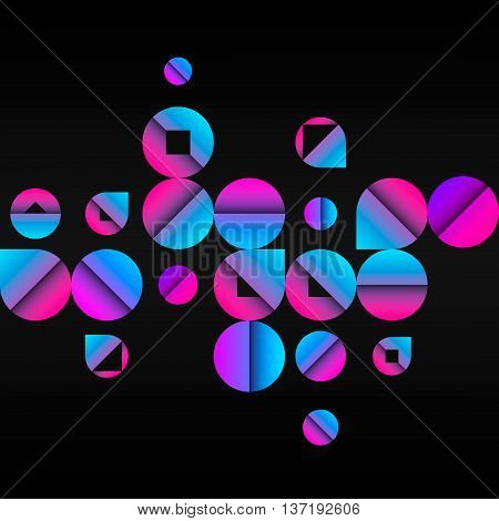 Vector abstract background. Illustration with random circles. Seamless pattern design for banner, poster, cover, flyer