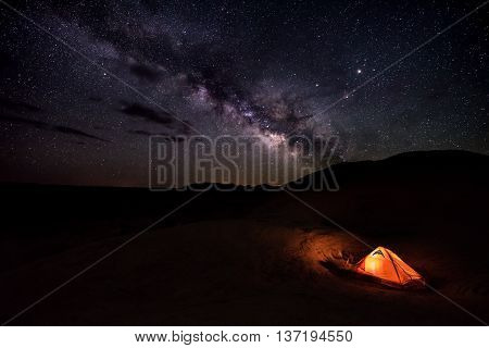 Camping Under The Stars Reflection Canyon Utah Usa