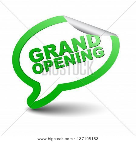 This is green vector element bubble grand opening