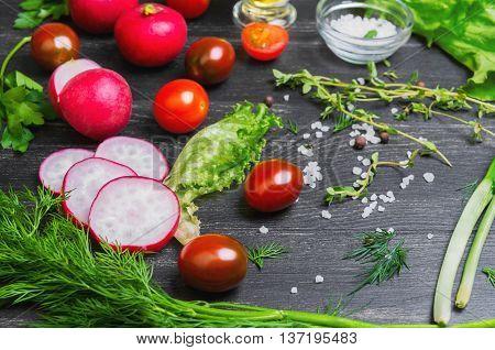 Vegetable Salad Food Foto