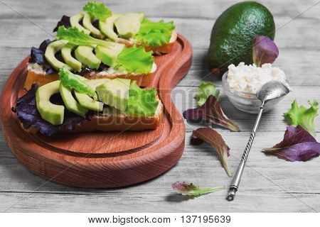 Three Sandwiches With Avocado