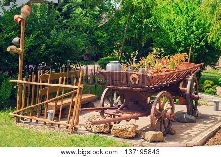 Old Wooden Rustic Wagon
