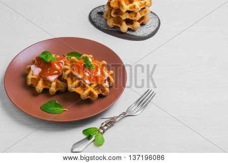 Freshly Soft Thick Belgian Waffles