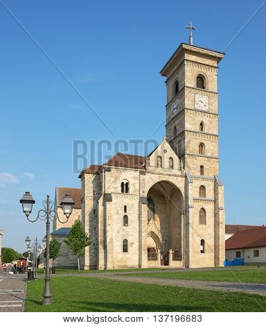 Catholic Cathedral St. Michael inside Alba Iulia Carolina Citadel, Romania