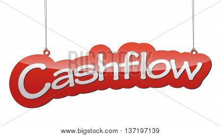 This is red vector background cash flow