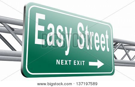 easy street and best way to do things simple and correct no risk and safe,3D illustration isolated on white.