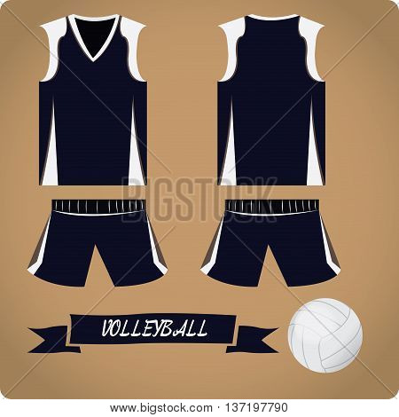 Volleyball objects Sport uniform Vector illustration, volleyball uniform