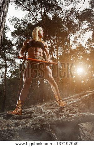 Fitness Woman Lumberjack