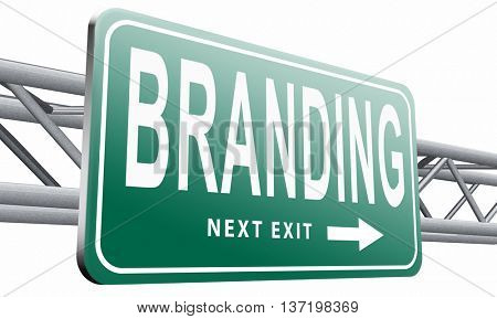 branding your own brand new product name promotion of trademark by recognition 3D illustration, isolated on white