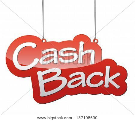 This is red vector background cash back