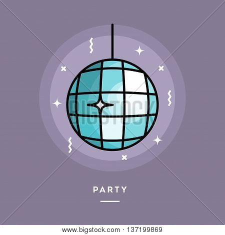 Party flat design thin line banner usage for e-mail newsletters web banners headers blog posts print and more