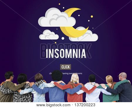 Insomnia Disorder Problem Sleep Concept