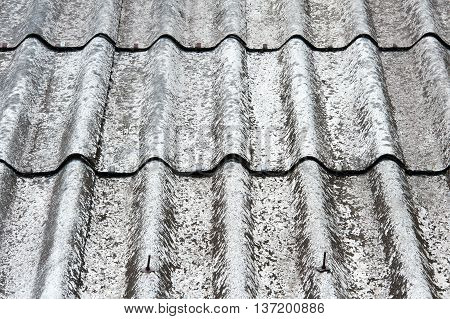 old worn shingle roof pattern for background