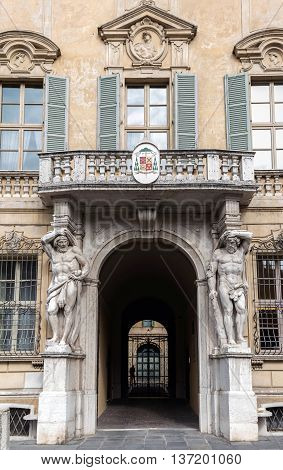 Statues Of Hercules At The Palazzo Vescovile