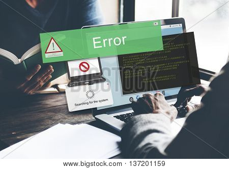 Error Disconnect Caution Inaccessible AbEnd Concept