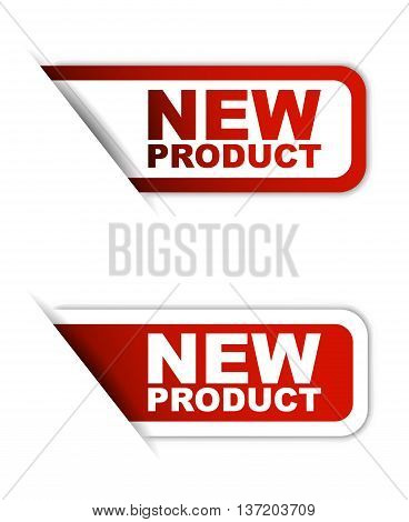This is red vector paper element sticker new product in two variant