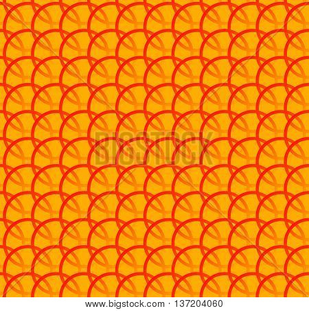 Repeatable Pattern W/ Interlocking Circles, Rings. Regular Monochrome Seamless Geometric Pattern.