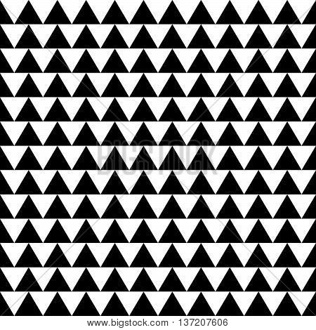 Repeatable Contrasty Geometric Pattern. Mosaic Of Triangles Within Squares