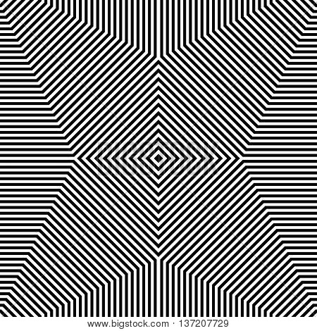 Repeatable Geometric Pattern. Abstract Monochrome Angular Background.
