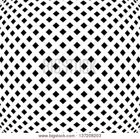 Grid, Mesh Pattern With Distortion. Abstract Geometric Pattern.
