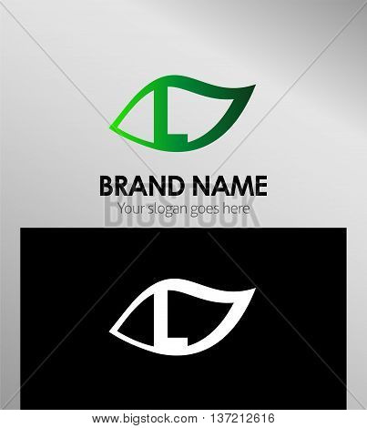 Leaf icon Logo Design Concepts. Letter L