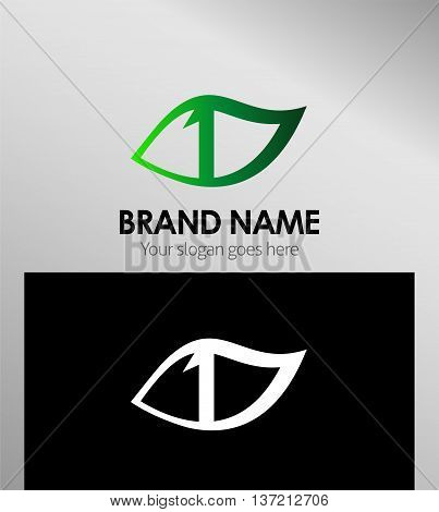 Vector sign number one logo template design vector