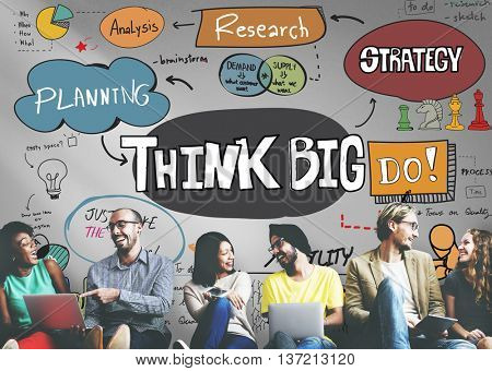 Think Big Positive Optimism Idea Intention Concept