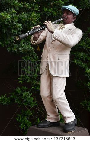 BANGKOK THAILAND-20 JUNE 2016: Musical statue in Chocolate Ville at Bangkok Thailand.