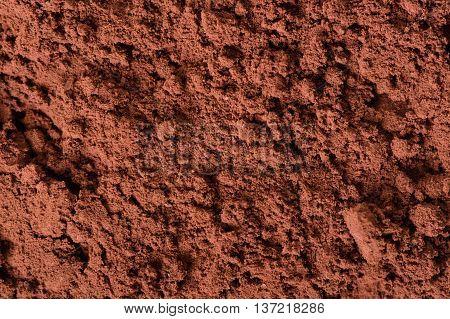 abstract cocoa powder, closeup cocoa powder texture