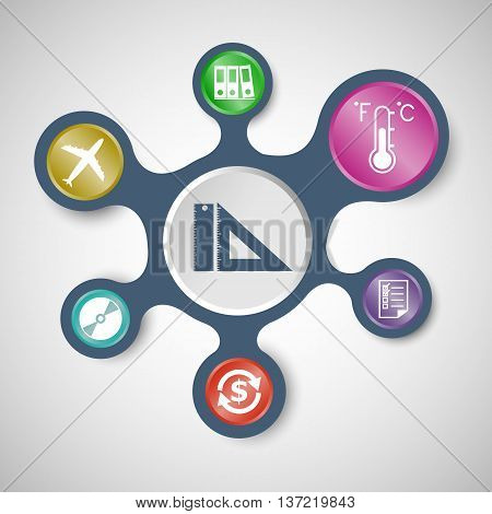 Application infographic templates with connected metaballs.set2, stock vector