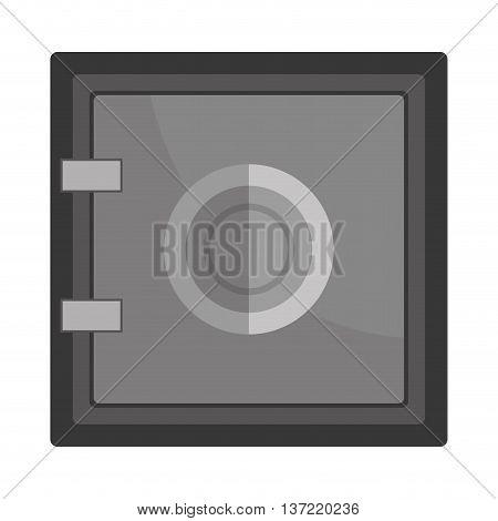 Safe depostis box or strongbox flat icon, vector illustration graphic.