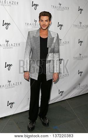 NEW YORK-JUN 25: Singer Adam Lambert attends Logo TV's