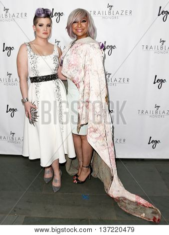 NEW YORK-JUN 25: Actress Kelly Osbourne (L) and Raven Symone attend Logo TV's