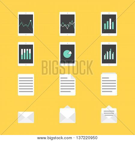 Set of business productivity icons vector illustration