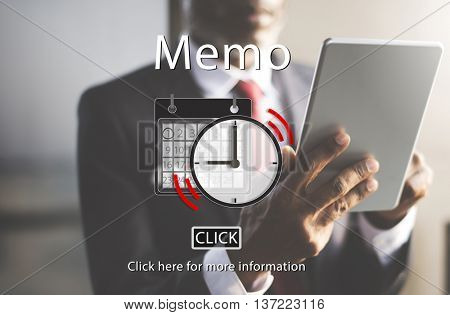 Memo Appointment Organizer Plan Reminder Concept