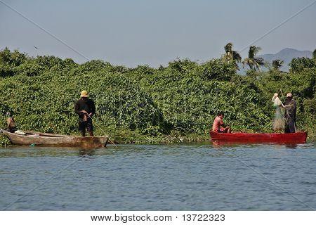 Fisherman in Coyuca river