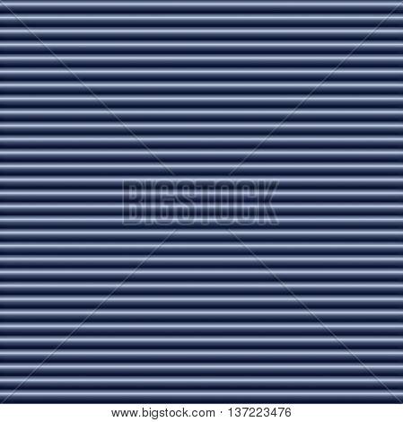 Horizontal blue metallic tube background texture seamlessly tileable