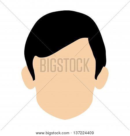 simple flat design faceless head of man icon vector illustration