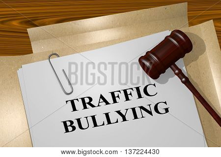 Traffic Bullying Legal Concept