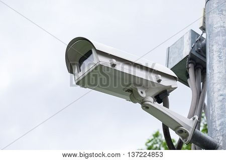 security camera, CCTV, Concept of security and safety life