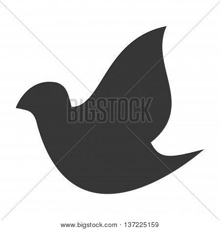 simple flat design dove silhouette icon vector illustration