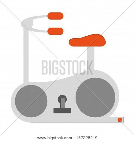 simple flat design gym spinning bike icon vector illustration