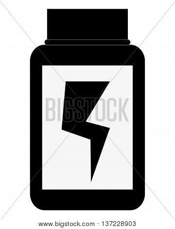 simple flat design dietary supplement with lightning ray icon vector illustration