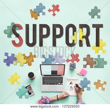 Support Social Help Charity Care Concept