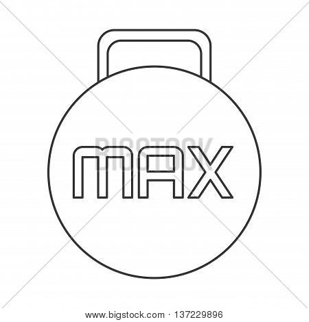 simple flat design kettlebell with letters icon vector illustration