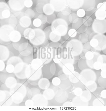 Silver white glitter lights background. Abstract glitter background.