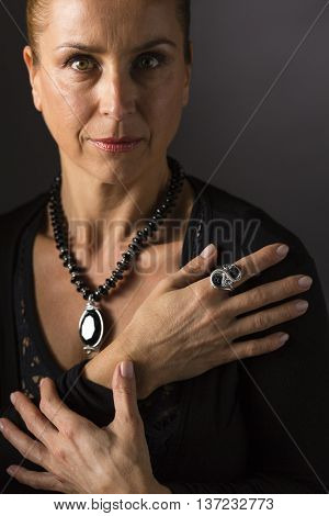 Woman and jewelry